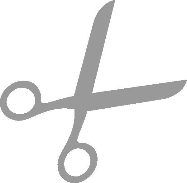 Grey Scissors 333 555 Clip Art at Clker.com - vector clip art online ...
