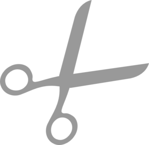 Grey Scissors 333 555 Clip Art