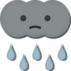 Sad Little Cloud Clip Art