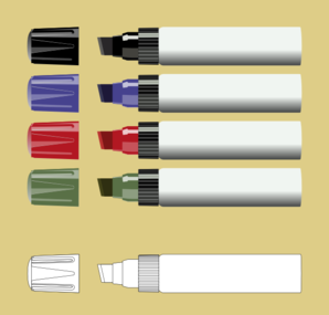 Markers Clip Art