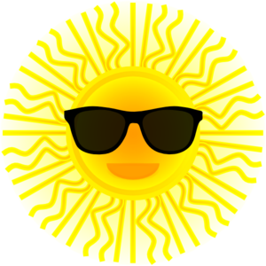 Sun With Sunglasses Clip Art