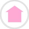 Light Pink Home Icon Clip Art