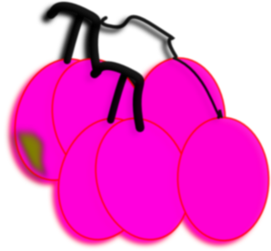 Cartoon Grapes Clip Art