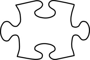 jigsaw white puzzle piece w shadow clip art at clkercom