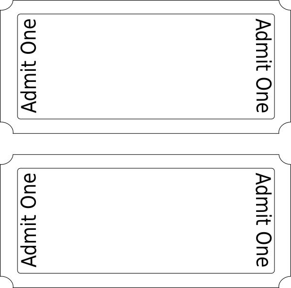 clip art theater ticket template