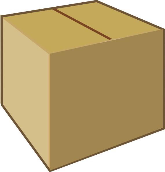 Cardboard Closed Box Clip Art at Clker.com - vector clip ...