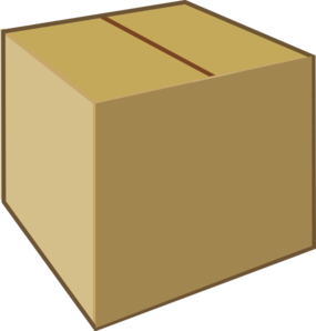Cardboard Closed Box Clip Art