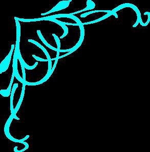 light blue swirl heart clip art