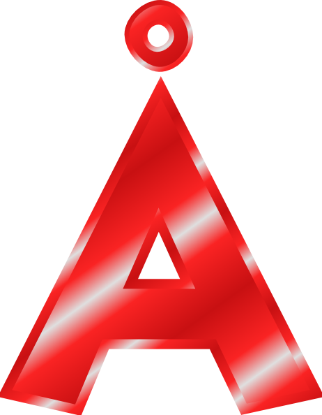 ... Effect letters alphabet red : Å clip art at clker.com - vector