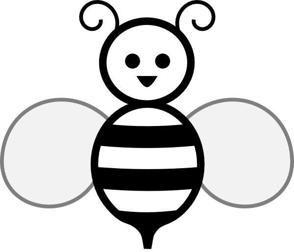 Black And White Bee Clip Art at Clker.com - vector clip ...