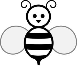 Black And White Bee Clip Art