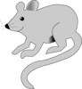 Cute Gray Mouse Clip Art