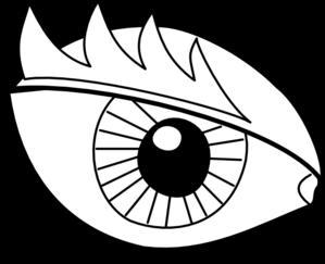 eye outline clip art at clker com vector clip art online royalty rh clker com clipart eyeballs cartoon scary eyeball clipart
