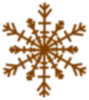 Snow Flake Shadow Clip Art