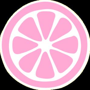 Pink Lemon Slice clip art - vector clip art online, royalty free ...