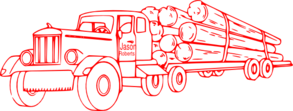 Red Log Truck Clip Art