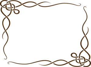 leafy frame brown clip art