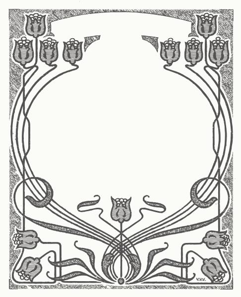 Art Nouveau Flower Frame Clip Art at Clker.com - vector clip art ...