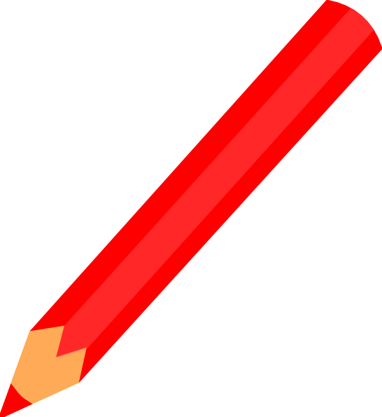 Pencil red clip art at clker vector clip art online royalty download this image as voltagebd Image collections