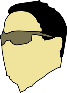 Dude Wearing Sunglasses Clip Art