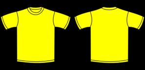 Yellow T Shirt Clip Art At Clker Com Vector Clip Art Online Royalty Free Public Domain