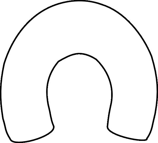 White Horseshoe Outline Clip Art At Clker Com Vector