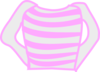 Pink Striped Long Sleeve Shirt Clip Art
