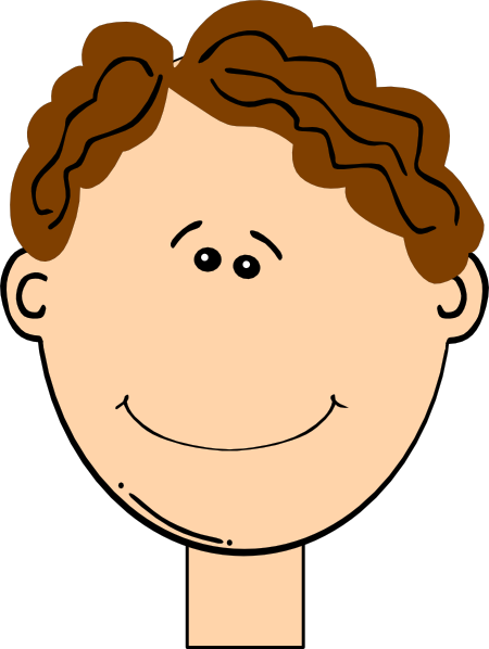 happy brown hair boy clip art at clkercom vector clip