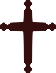 Brown Cross Clip Art