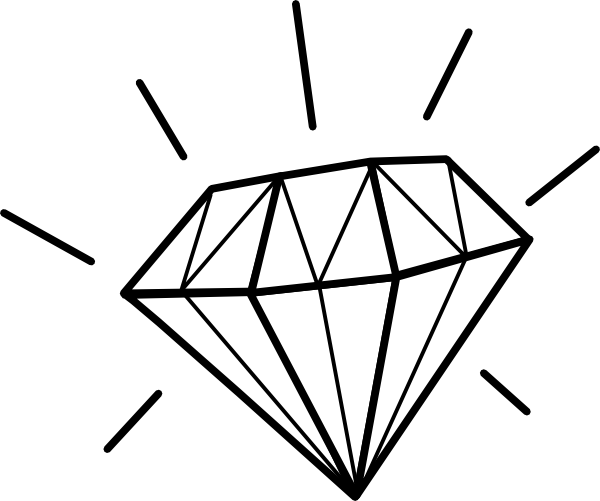 Line Drawing Jewel : Diamond clip art at clker vector online