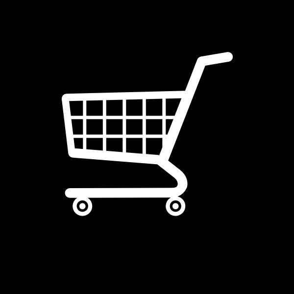 white cart icon