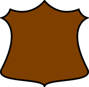 A Plain Shield Clip Art