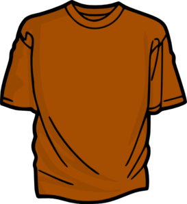 Orange T-shirt Clip Art
