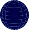 Big Navy Wire Globe Clip Art