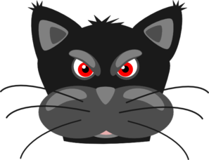Angry Black Cat Clip Art