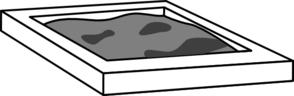Grey Scale Sandbox Clip Art