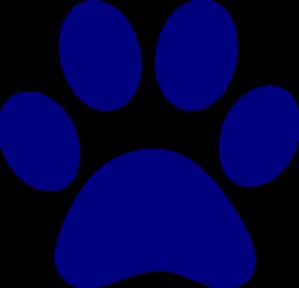dark blue paw print clip art at clkercom vector clip