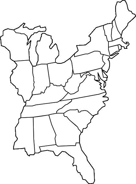 Eastern U.s. Map Clip Art at Clker.com - vector clip art online ...