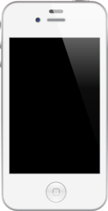 White Iphone Clip Art
