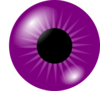 Purple Eye Clip Art