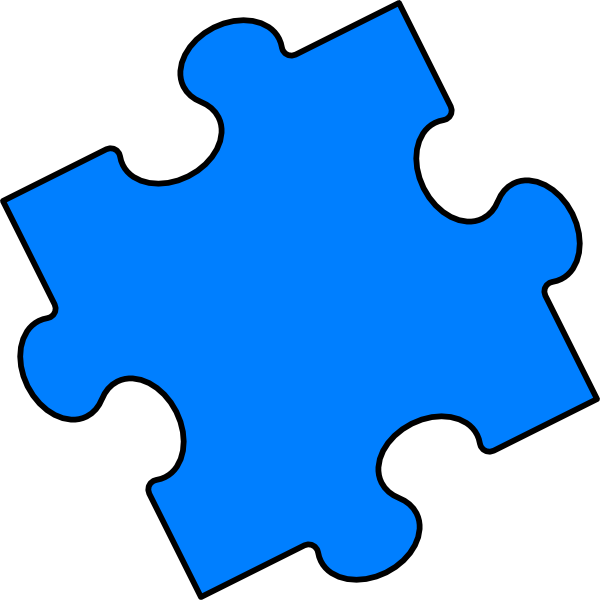 Blue puzzle piece clip art at clker vector clip art online download this image as toneelgroepblik Gallery