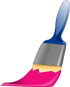 Paintbrush Hot Pink Clip Art