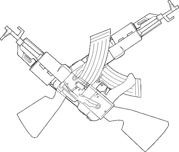 crossing ak47 clip art at clker com vector clip art online