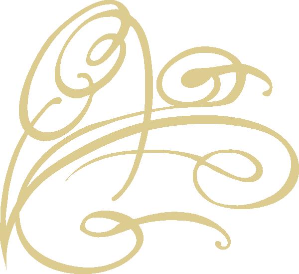 Decorative Swirl - Gold Clip Art at Clker.com - vector ...