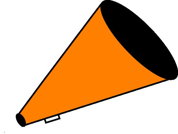 megaphone orange clip art at clker com vector clip art online rh clker com  cheerleader megaphone clipart