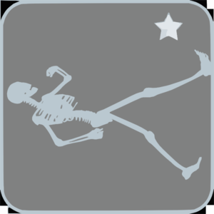 Skeleton Walking Clip Art