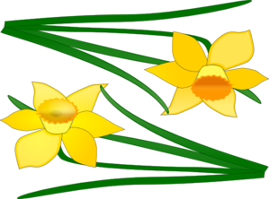 Two Flowers Clip Art