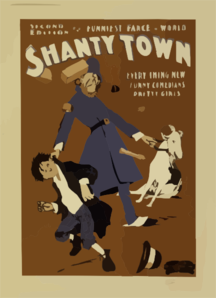 Second Edition Of The Funniest Farce In The World, Shantytown Everything New, Funny Comedians, Pretty Girls. Clip Art