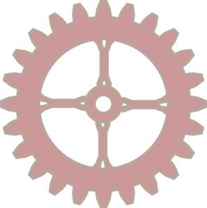 Red Gear Clip Art