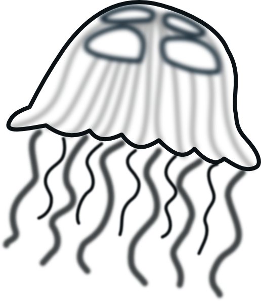 jellyfish clip art at clker com vector clip art online royalty rh clker com jellyfish clipart outline jellyfish clipart black and white